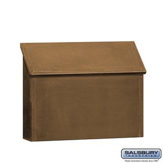 Antique brass wall mailbox