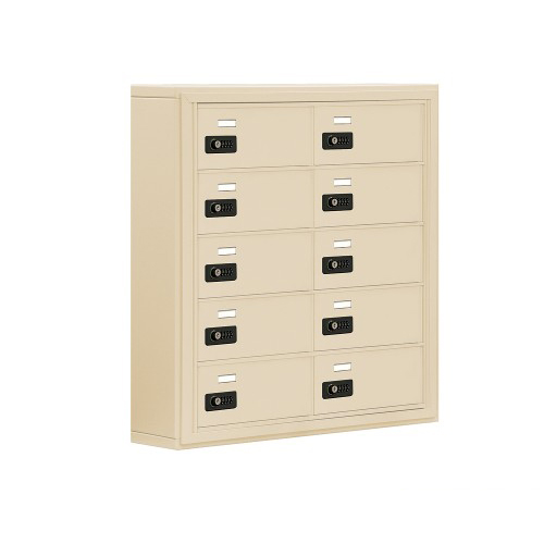 10 Door Surface Mounted Cell Phone Locker By Locking Mailboxes