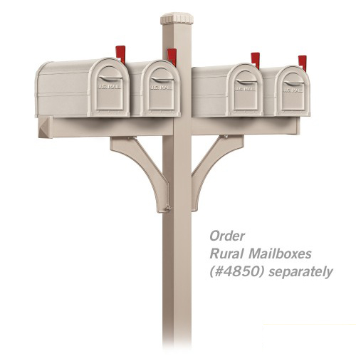 Deluxe Mailbox Post 2 Sided 4 Box Locking Mailboxes