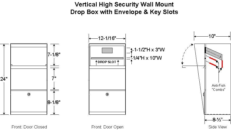Vertical Locking Wall Mailbox Locking Mailboxes