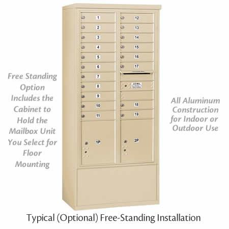 Free Standing 4C Horizontal mailbox center