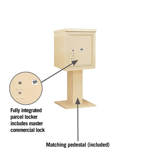 Single Out Door Parcel Locker Locking Mailboxes
