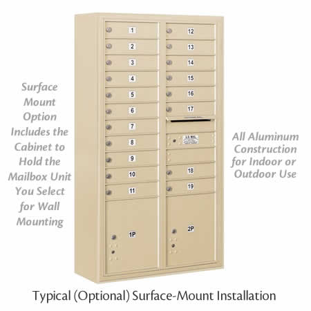 Wall Mounted 4C Horizontal Mailboxes