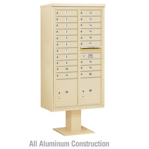 4 C Pedestal Mounted Mailboxes